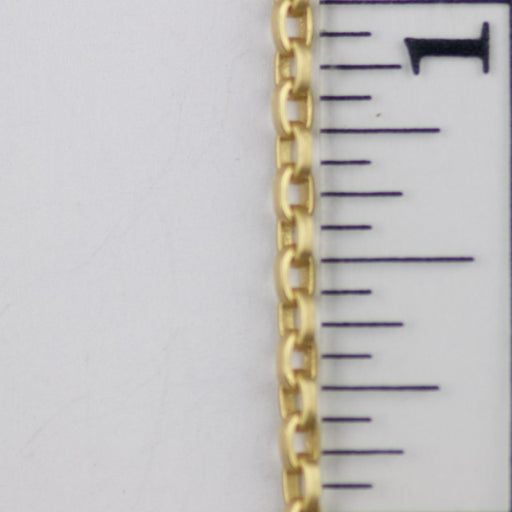 2.5 x 3.5mm Square Wire Cable Chain - Satin Hamilton Gold
