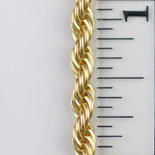 3.8mm Classic Rope Chain - Satin Hamilton Gold