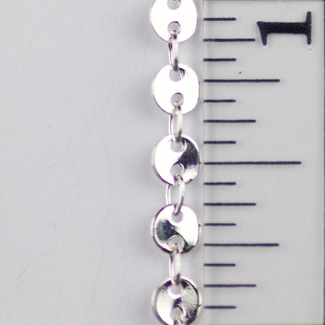 4mm Round Disc Chain - Silver