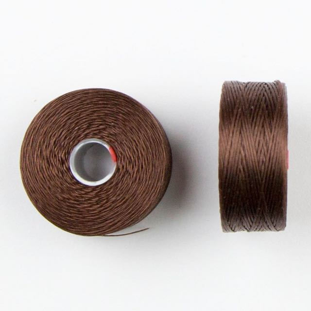 73 meters (79.8 yards) - C-Lon Size D Beading Thread Tex 45 -  Brown