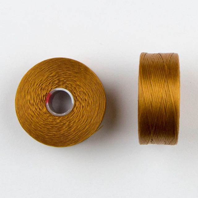 73 meters (79.8 yards) - C-Lon Size D Beading Thread Tex 45 -  Gold