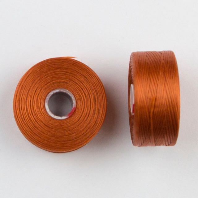 73 meters (79.8 yards) - C-Lon Size D Beading Thread Tex 45 -  Light Copper