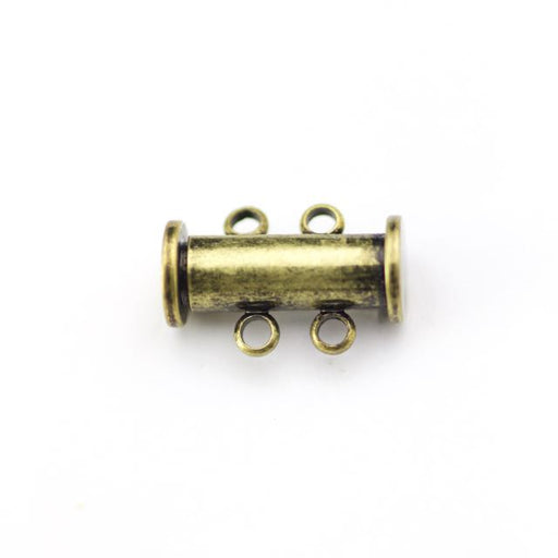 14mm x 10mm Slide Magnetic 2-Loop Clasp - Antique Brass