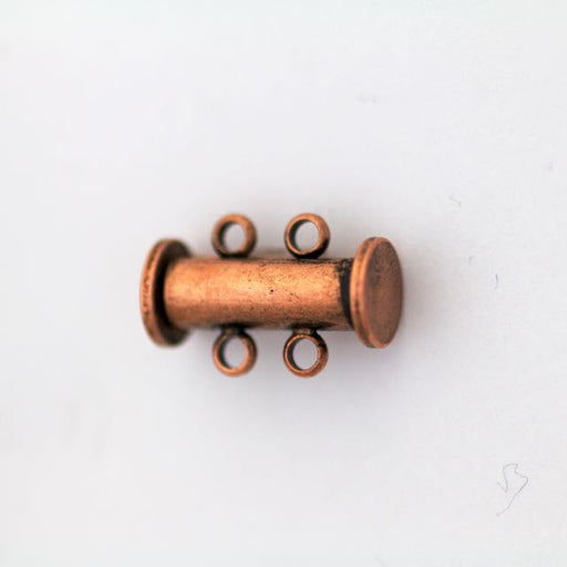 14mm x 10mm Slide Magnetic 2-Loop Clasp - Antique Copper