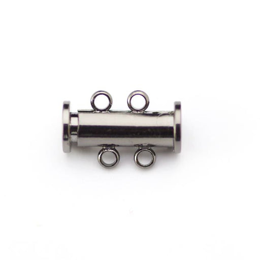 14mm x 10mm Slide Magnetic 2-Loop Clasp - Black