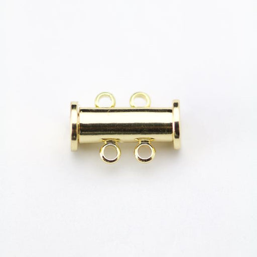 14mm x 10mm Slide Magnetic 2-Loop Clasp - Gold