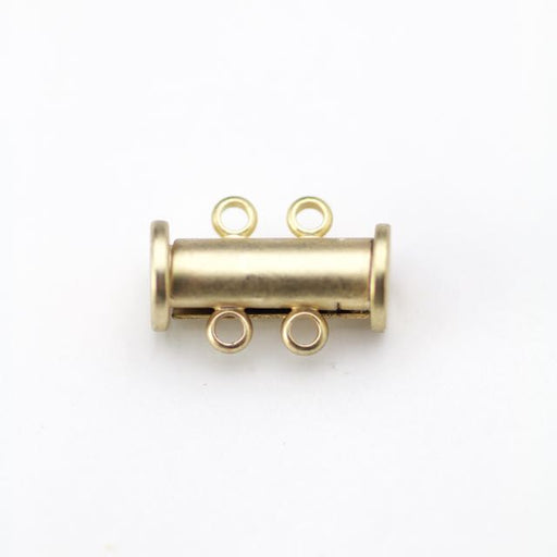 14mm x 10mm Slide Magnetic 2-Loop Clasp - Satin Hamilton Gold