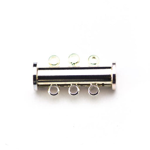 20mm x 10mm Slide Magnetic 3-Loop Clasp - Silver