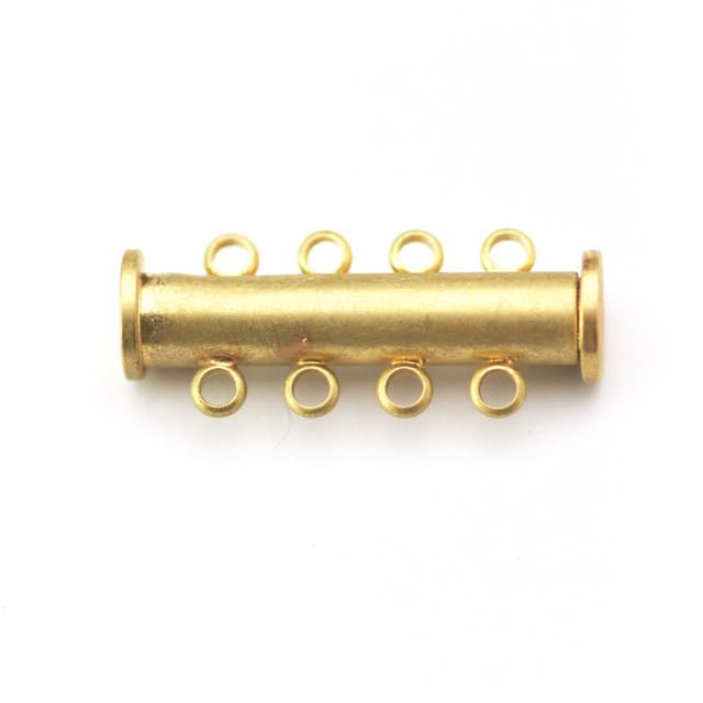 26mm x 10mm Slide Magnetic 4-Loop Clasp - Satin Hamilton Gold