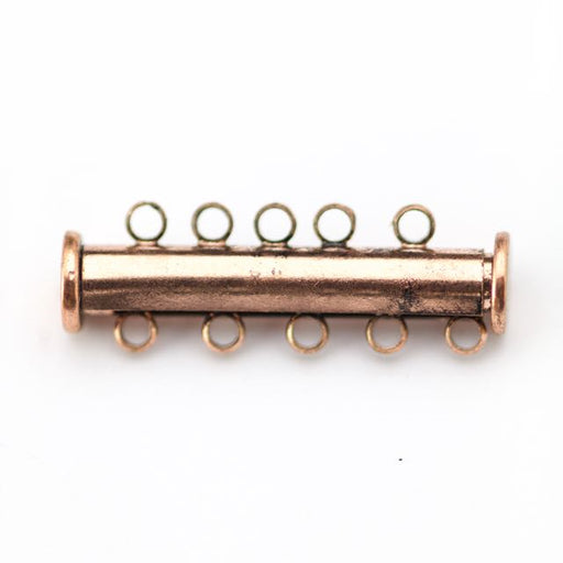 30mm x 10mm Slide Magnetic 5-Loop Clasp - Antique Copper