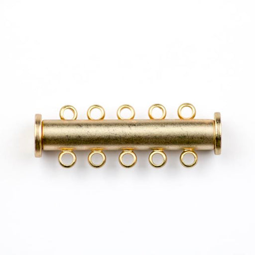 30mm x 10mm Slide Magnetic 5-Loop Clasp - Satin Hamilton Gold
