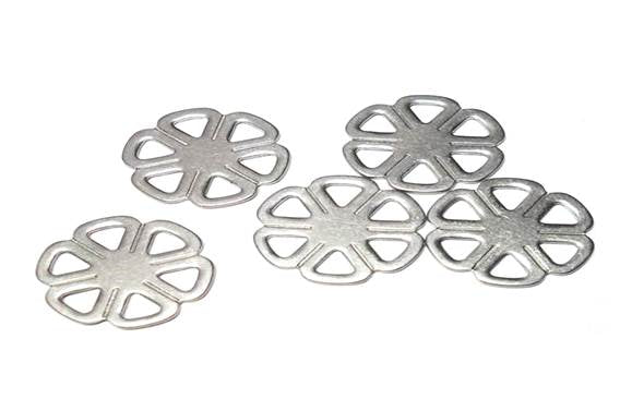 6-Petal Stainless Steel Charms