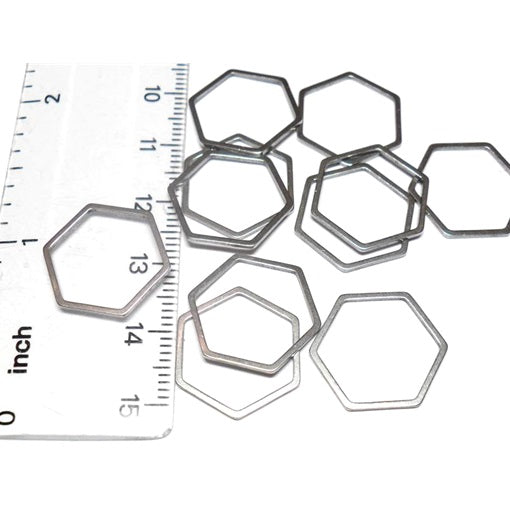 Stainless Steel Medium Hexagon Links