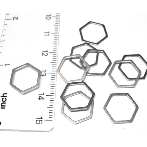 Stainless Steel Small Hexagon Links