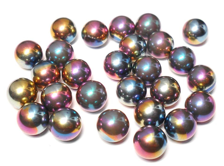 Package of 4 - 8mm Rainbow Anodized Titanium Ball Bearings (no hole)
