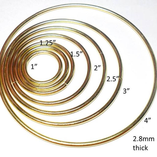 9.5awg 1.5 in. Outer Diameter 33mm Inside Diamter 12.4AR Welded Brass Rings