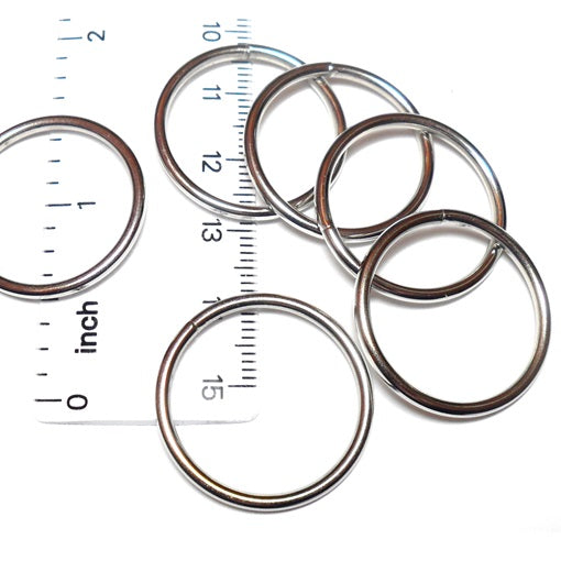 14swg 1 in. Outer Diameter Welded Stainless Steel Rings