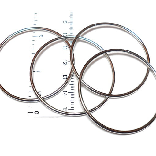 14swg 2 in. Outer Diameter Welded Stainless Steel Rings