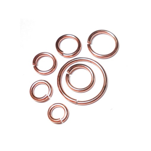 16swg (1.6mm) 3/8in. (10.2mm) ID 6.5AR Copper Jump Rings