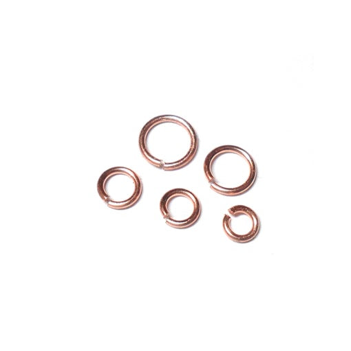 20awg (0.8mm) 1/8in. (3.1mm) ID 3.9AR Copper Jump Rings