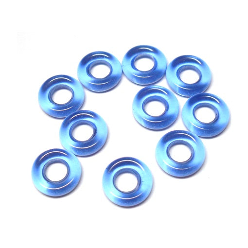 Czech 9mm OD Pressed Glass Rings - Sapphire