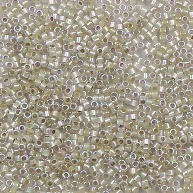 11/0 Miyuki DELICA Beads - Silverlined Opal AB