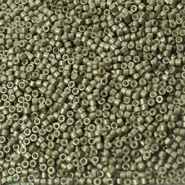 11/0 Miyuki DELICA Beads - Galvanized Semi-Frosted Pewter
