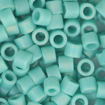 10/0 Miyuki DELICA Beads - Matte Opaque Turquoise Green AB