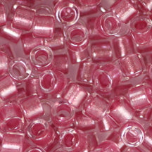 10/0 Miyuki DELICA Beads - Sparkling Peony Pink Lined Crystal