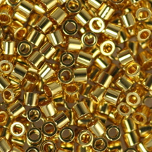 15/0 Miyuki DELICA Beads - 24kt Gold Plated