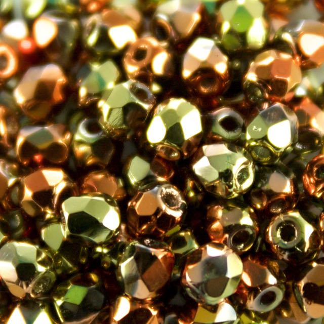 3mm FIRE POLISHED Bead - Crystal California Gold Rush