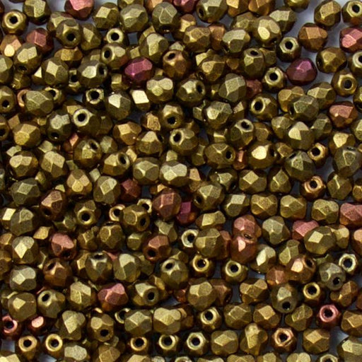 3mm FIRE POLISHED Bead - Metallic Mix