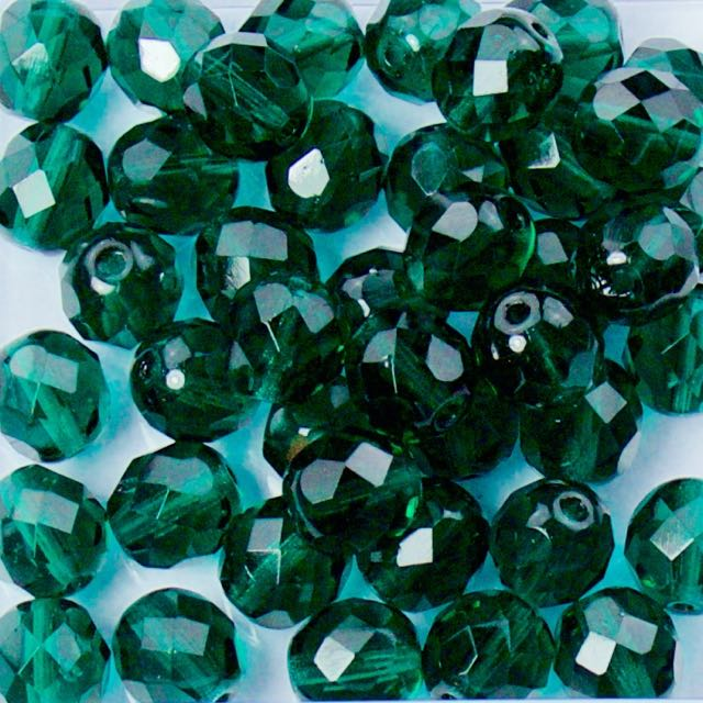 8mm FIRE POLISHED Bead - Emerald