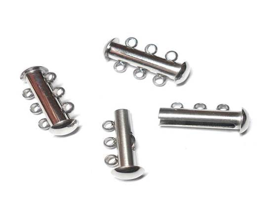 3-Hole Spring-Loaded Stainless Steel Slide Clasps