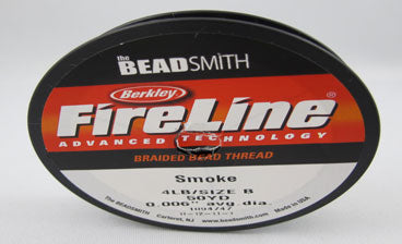 4 LB Microfused Braided Bead Thread - Smoke