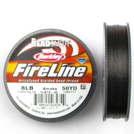 8 LB Microfused Braided Bead Thread - Smoke