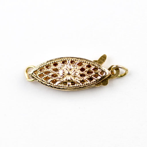Gold Filled Filigree Pearl Clasp