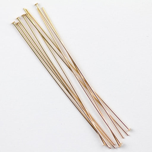 "Gold Filled 2"" Head Pin .020""/.5mm/24  gauge. - Head Diameter 1.2-1.25mm"
