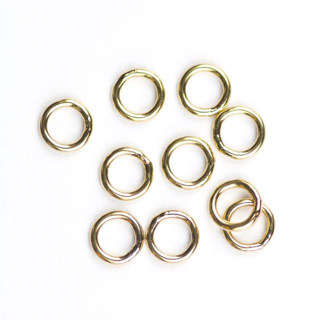 Gold Filled 18ga. .039/6mm OD Jump Ring - Closed