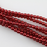 2mm Round  Glass Pearl - Xmas Red