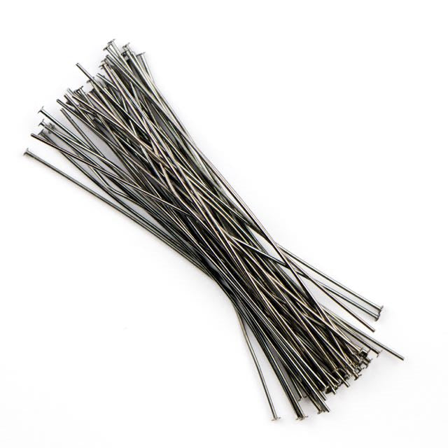 2 in. .020/.5mm/24ga. Head Pin - Black Oxide