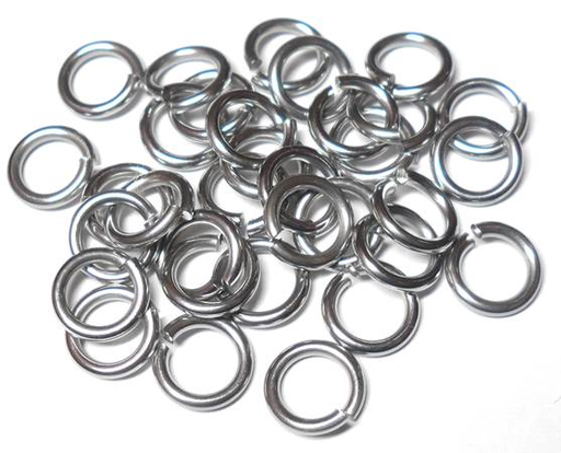 18swg (1.2mm) 1/8 in. (3.3mm) ID 2.8AR Softer Tempered and Saw Cut Stainless Steel Jump Rings