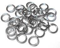 18swg (1.2mm) 9/64in. (3.7mm) ID 3.0AR Soft Tempered and Saw Cut Stainless Steel Jump Rings