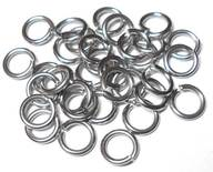 18swg (1.2mm) 13/64in. (5.4mm) ID 4.5AR Soft Tempered and Saw Cut Stainless Steel Jump Rings