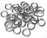 18swg (1.2mm) 7/16in. (12.2mm) ID 10.1 AR Soft Tempered and Saw Cut Stainless Steel Jump Rings