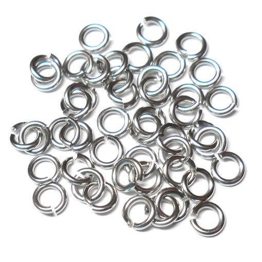20awg (0.8mm) 3/32in. (2.4mm) ID  3.0AR Softer Tempered and Saw Cut Stainless Jump Rings