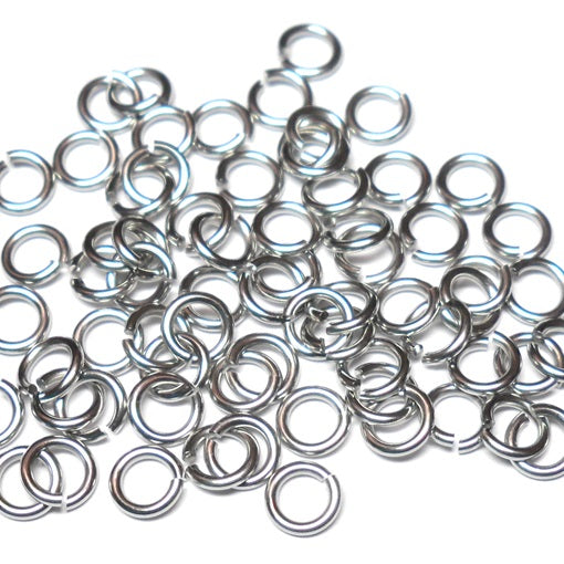 20awg (0.8mm) 7/64in. (2.9mm) ID  3.6AR Softer Tempered and Saw Cut Stainless Jump Rings