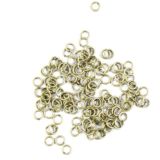 4mm 18g Open Jump Rings - Antique Brass