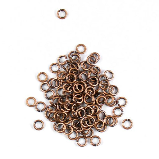 4mm 18g Open Jump Rings - Antique Copper