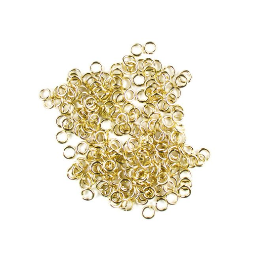 4mm 18g Open Jump Rings - Gold